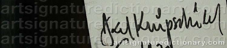 Signature by Axel KNIPSCHILD