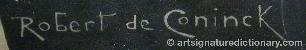 Signature by Robert De CONINCK
