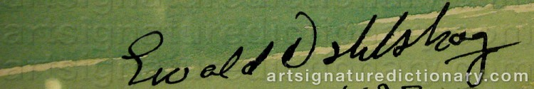 Signature by Ewald DAHLSKOG