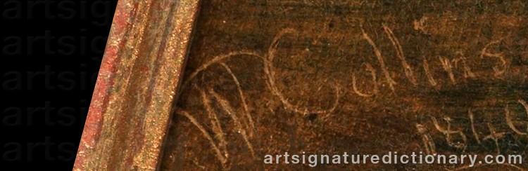 Signature by William COLLINS