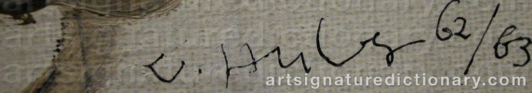 Signature by Walter Karl HUBER