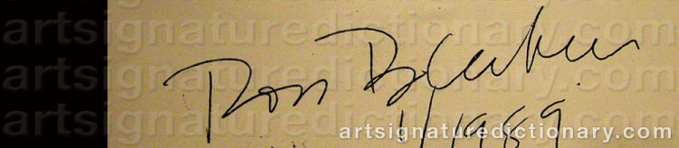 Signature by Ross BLECKNER