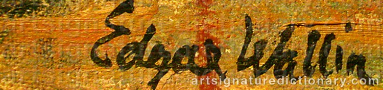 Signature by Edgar WALLIN