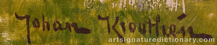 Signature by Johan KROUTHÉN