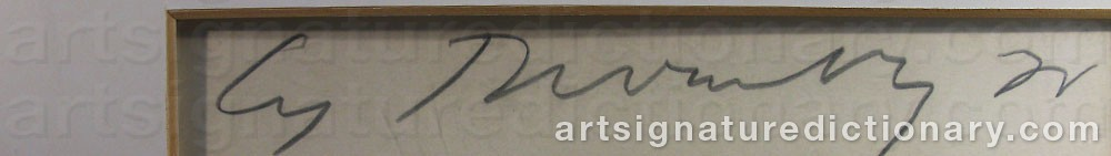 Signature by Cy TWOMBLY