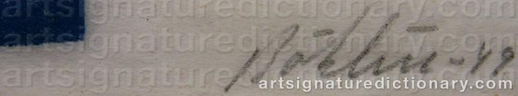 Signature by Per-Erik BÖKLIN