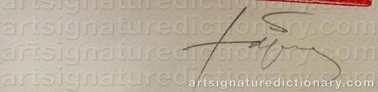 Signature by Antoni TAPIES