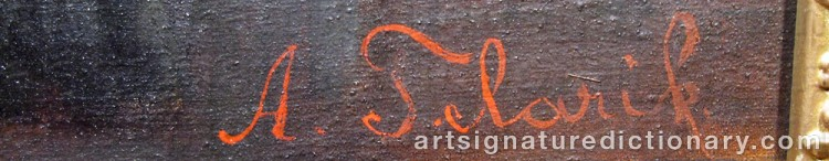 Signature by Alois TELARIK