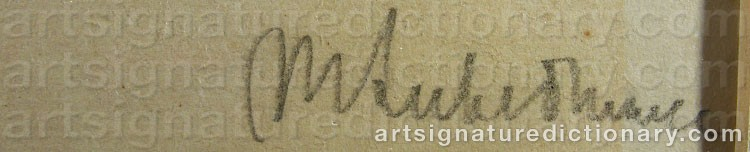 Signature by Max LIEBERMANN