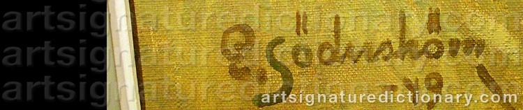Signature by Edvin SÖDERSTRÖM