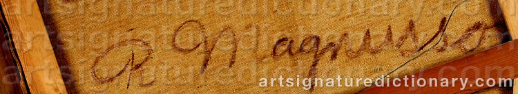 Signature by Ragnvald 'Ragnvald M' MAGNUSSON