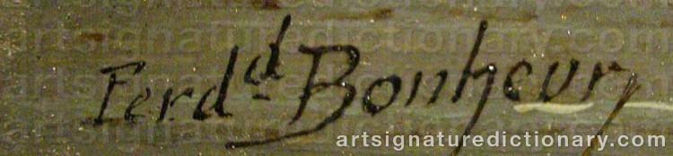 Signature by Ferdinand BONHEUR