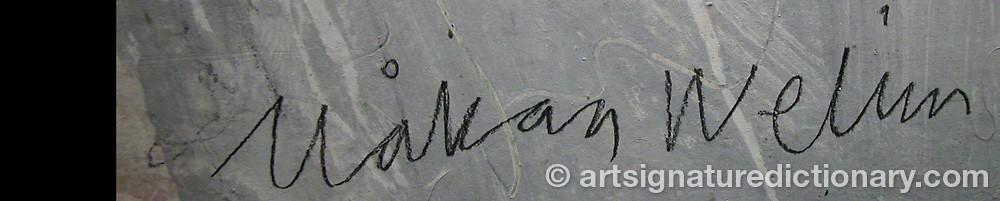 Signature by Håkan WELIN