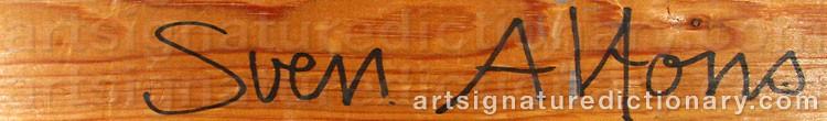 Signature by Sven Gunnar ALFONS