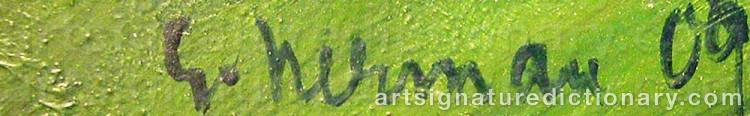 Signature by Einar NERMAN