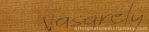 Signature by: VASARELY, Victor