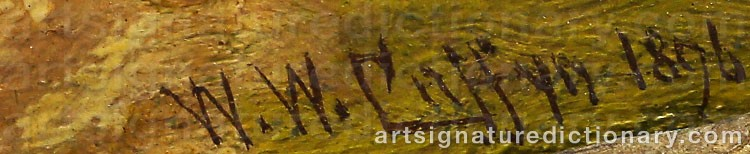 Signature by Walter Wallor CAFFYN