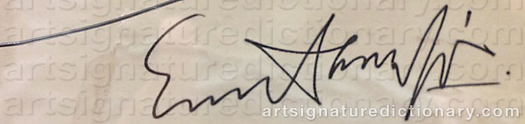 Signature by Evert LUNDQUIST