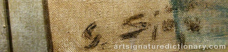 Signature by Gustav SJÖÖ