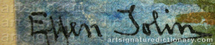 Signature by Ellen JOLIN