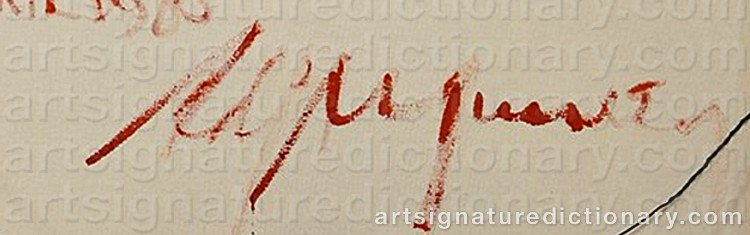 Signature by Adja YUNKERS