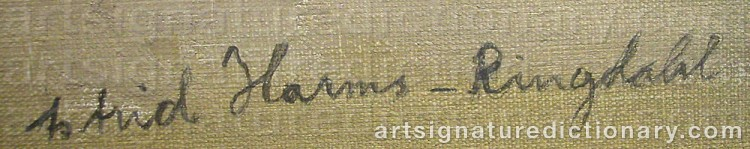 Signature by Astrid HARMS-RINGDAHL