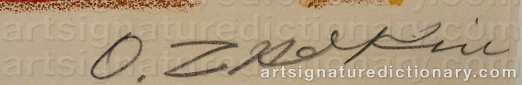 Signature by Ossip ZADKINE