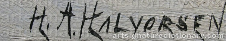 Signature by Halvor HALVORSEN