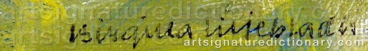 Signature by Birgitta LILJEBLADH