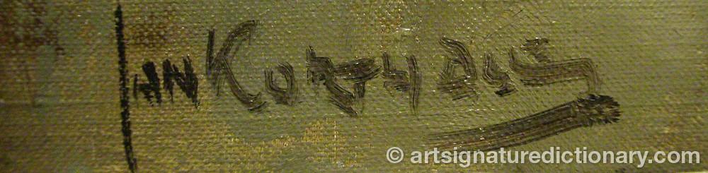 Signature by Jan KORTHALS