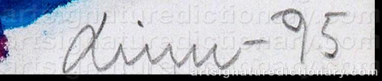 Signature by Linn FERNSTRÖM