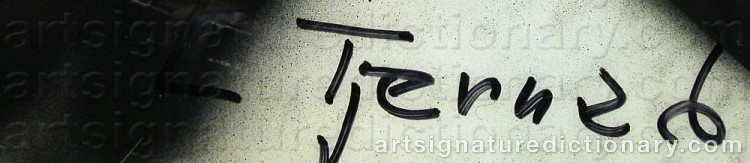 Signature by Leif TJERNED