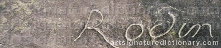 Signature by Auguste RODIN