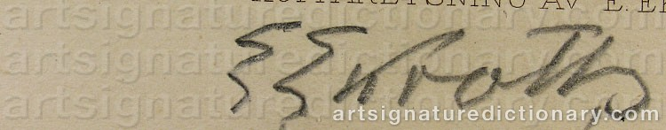 Signature by Emil EKROTH