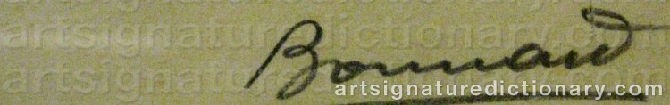 Signature by Pierre BONNARD