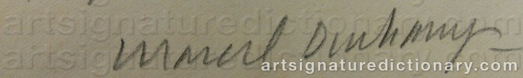 Signature by Marcel DUCHAMP