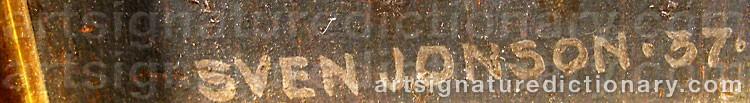 Signature by Sven JONSON