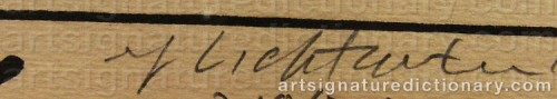 Signature by: LICHTENSTEIN, Roy