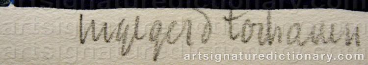 Signature by Ingegerd TORHAMN