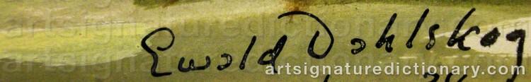 Signature by Ewald DAHLSKOG