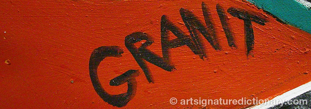 Signature by Joachim GRANIT