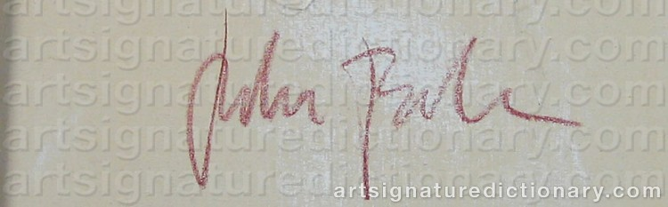 Signature by Peter BONDE