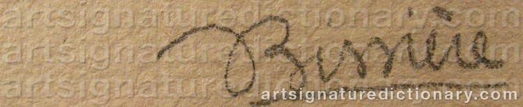Signature by Roger BISSIERE