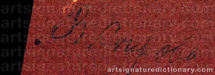Signature by Valentin Alexandrovich SEROV