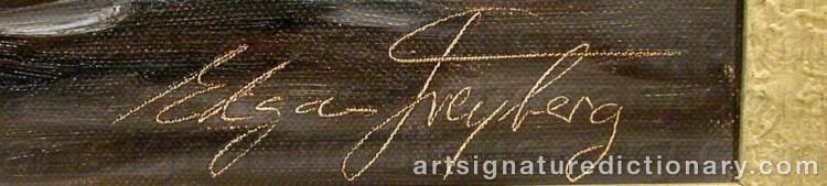 Signature by Edgar FREYBERG