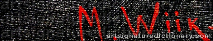 Signature by Maria WIIK