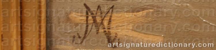 Signature by Adolf Heinrich MACKEPRANG