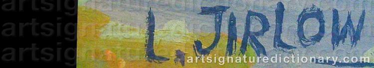 Signature by Lennart JIRLOW