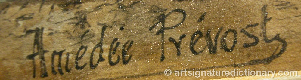 Signature by Amédée PRÉVOST