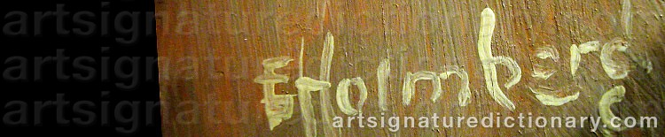 Signature by Eva HOLMBERG JACOBSSON
